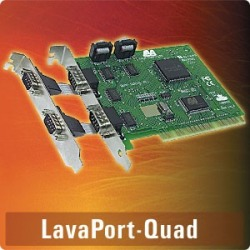 LavaPort-Quad - PCI 4-port 9-pin, COM 3-8, all ports sha