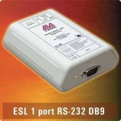 ES1-232DB9 - 1xDB9 RS232 Ethernet Serial Link EU Powe