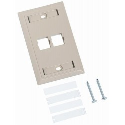 Systimax 2 Puertos Ivory Faceplate N/P: 108168477