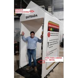 Cabina - Tunel De Desinfeccion Personas - Metal