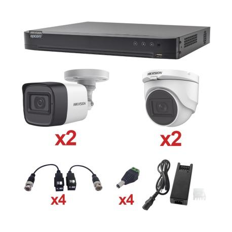 N/P : KH1080P2BW-2DW - HIKVISION - KIT TurboHD 1080p / DVR 4 Cana