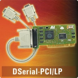 DSerial-PCI/ LP - PCI dual 9-pin 16550, supports IRQ shari
