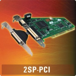 2SP-PCI - PCI dual 9 & 25 pin 16550 & EPP parallel