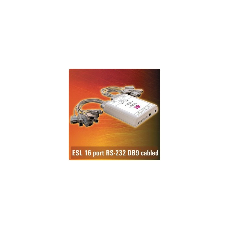 ESL16-232-DB9CBL - 16 X RS232 IP-enabled 9-pin serial port