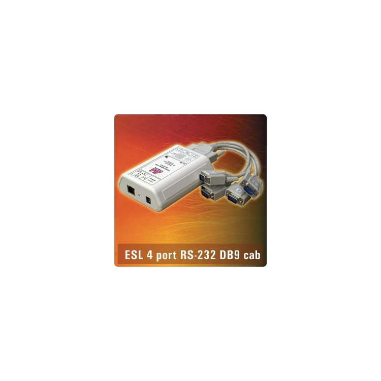 ES4-232DB9CBL - 4xDB9 Fan-out cable RS232 Ethernet Seria