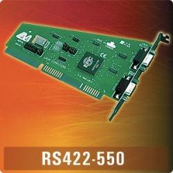 RS422-550 - 2 X RS422, ISA, 9-PIN (F), 16550 UARTS