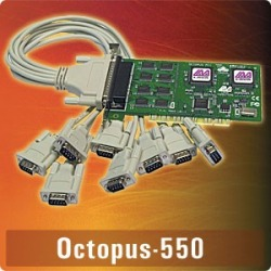 Octopus-550 - PCI 8-port 16550, all ports share 1 IRQ.