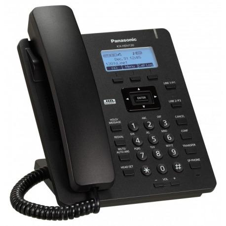 N/P : KX-HDV130XB - PANASONIC- Basic SIP Phone (3-line backlit LCD