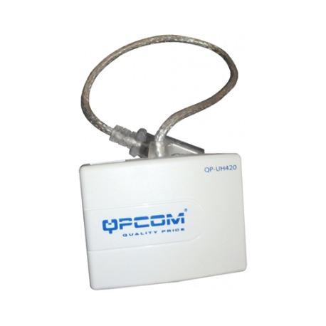 QP-UH420 - ACCESORIO - QPCOM 4 Port Hub USB